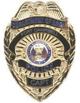 Dept Of The Army Guard Badge Gold W CAPT U-B-730D