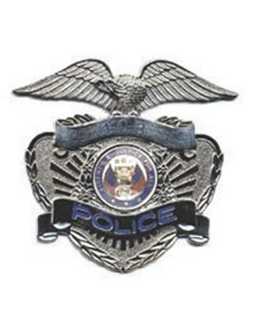 Dept of the Army Police Hat Badge Nickel with Number