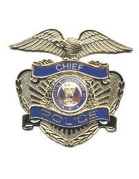 Dept of the Army Police Hat Badge with Hat Gold with Chief