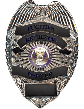 Department of Defense Police Badge Rhodium U-B-750/S