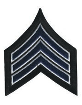 Chevron Sergeant Royal/White on Black 3