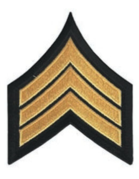 Chevron Sergeant Med Gold on Black 3
