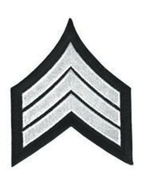 Chevron Sergeant White on Black 3