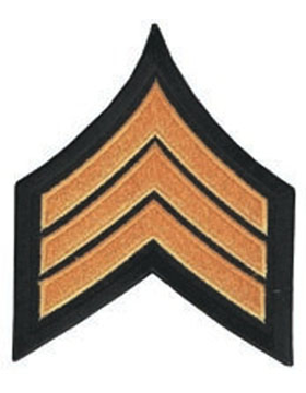 Chevron Sergeant Dk Gold on Black 3