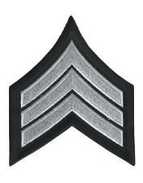 Chevron Sergeant Silver on Black 3
