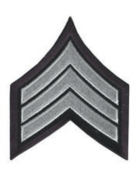 Chevron Sergeant Silver Gray on Midnight Navy 3