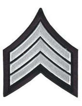 Chevron Sergeant White on Midnight Navy 3