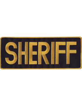 U-N101 Sheriff 11in Patch with Velcro small
