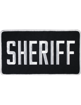 U-N115 Sheriff 5in x 9in Patch