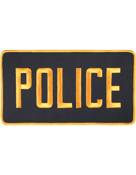 U-N116 Police 5in x 9in Patch