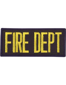 U-N129 Fire Dept 2in x 4in Patch