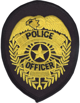 Novelty (U-N142A) Police 4in Badge Gold on Black small