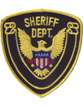 Novelty (U-N143A) Sheriff Department 4in Patch with Gold Scroll on Midnight Navy small
