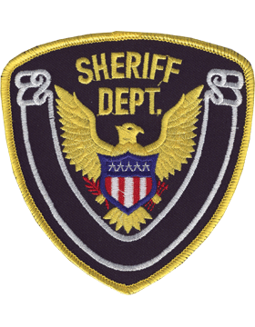 Novelty (U-N143B) Sheriff Department 4in Patch with White Scroll on Midnight Nav