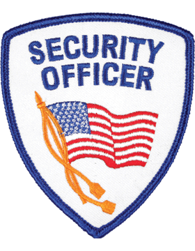Novelty (U-N209) Security Officer with Waving Flag Patch