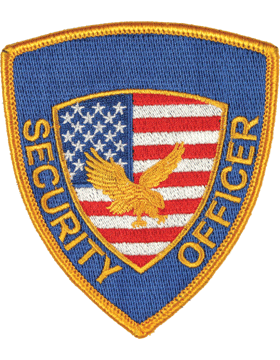 Novelty (U-N210) Security Officer with Flag and Eagle Patch