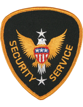 Novelty (U-N211A) Security Service Patch Gold on Black small