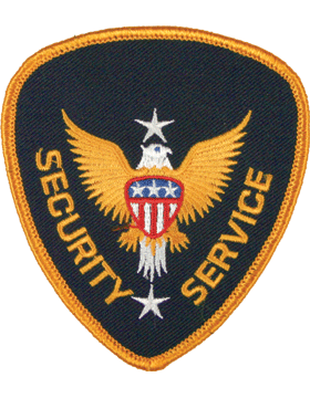 Novelty (U-N211B) Security Service Patch Gold and Navy small