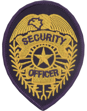 U-N212 Security Officer 3.75in x 2.75in Patch small