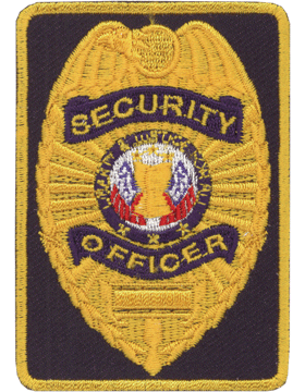 U-N213 Security Officer 2in x 3in Patch small