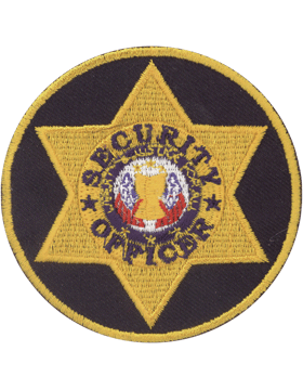 U-N214 Security Officer Six Point Star in Circle Patch small