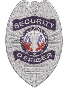 U-N215 Security Officer 3in x 2in Badge