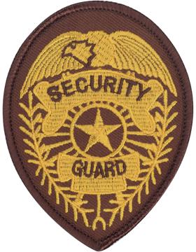 U-N218 Security Guard 3.75in x 2.75in Badge