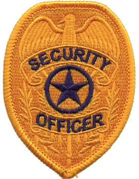 U-N219 Security Guard with Star 3.75in x 2.75in Badge