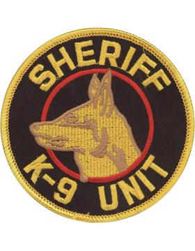 Novelty (U-N220) Sherriff K-9 Unit Patch