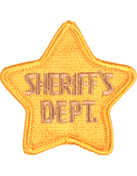 Novelty (U-N221) Sheriff Department Star 2.5in Patch