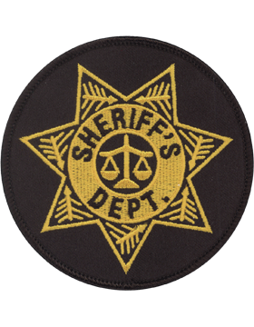 U-N222 Sheriff Dept in Star Patch with Scales