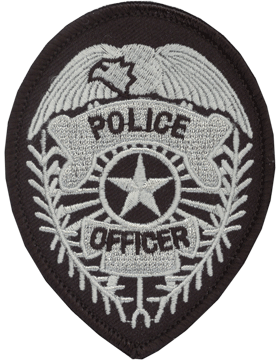 U-N301 Police Officer Badge with Star Patch