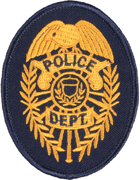 U-N305 Police Dept 3.2in x 2.75in Badge