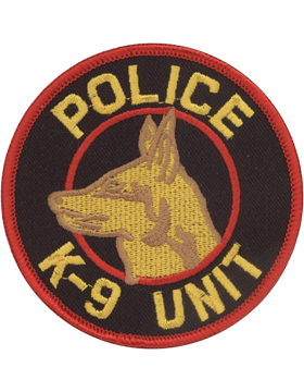 U-N310A Police K-9 Unit Patch Large