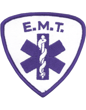 U-N326 Emergency Medical Technician (EMT) with Blue Merrow Patch