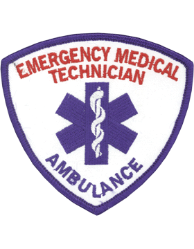 U-N327 Emergency Medical Technician (EMT) with Ambulance Patch Red