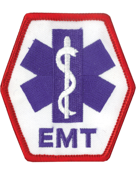 U-N328 Emergency Medical Technician (EMT) with Red Merrow Patch