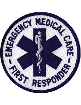 U-N330 Emergency Medical Care First Responder Round 3.5in Patch