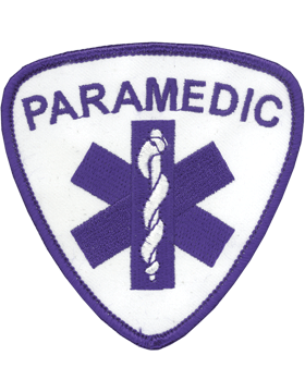 U-N340 Paramedic 3.5in Patch Blue and White