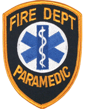 U-N343 Fire Department Paramedic Patch