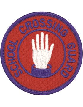 U-N345 School Crossing Guard 3in Patch