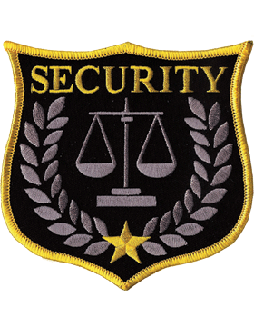 U-N400 Security Patch with Scale Of Justice Shield