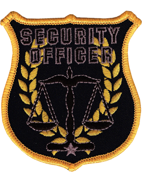 U-N401 Security Officer Patch with Scale Of Justice Shield