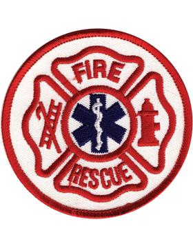 U-N403 Fire Rescue Round Patch