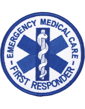 U-N404 Emergency Medical Care First Responder Round Patch