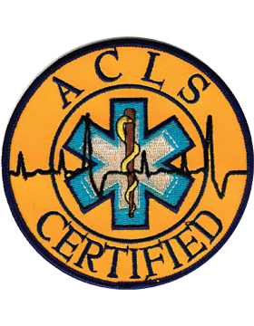 Advanced Cardiac Life Support Certified (ACLS) Patch