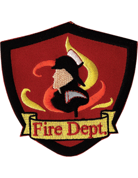 U-N407 Fire Department Shield with Flames Patch