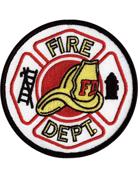 U-N412 Fire Department with Hat Round Patch
