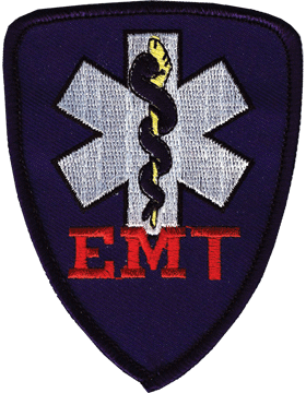 U-N413 Emergency Medical Technician (EMT) Patch with Blue Shield