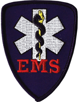 U-N415 Emergency Medical Services Patch with Blue Shield